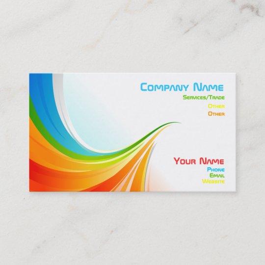 Rainbow business card zazzle rainbow business card reheart Images