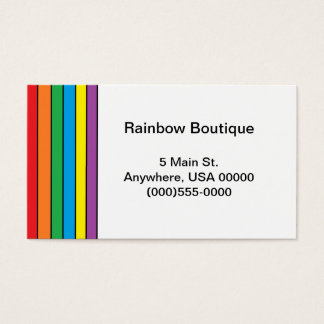 """Rainbow"" Business Cards"