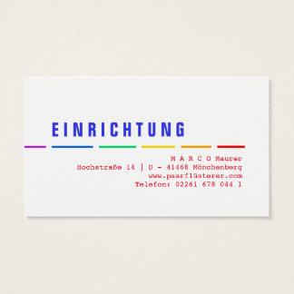 Rainbow businesscards business card