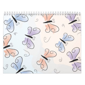 Rainbow butterflies appointment book calendar