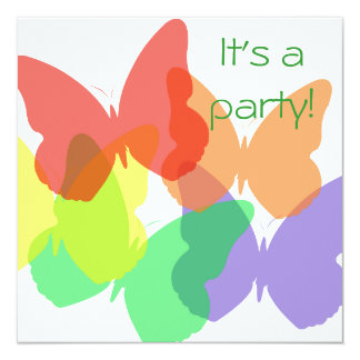 Rainbow Butterflies Card