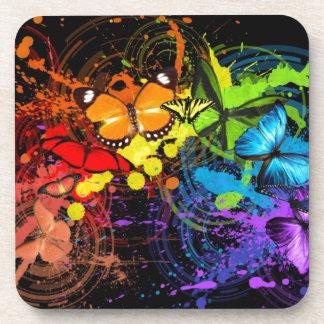 Rainbow butterflies coaster