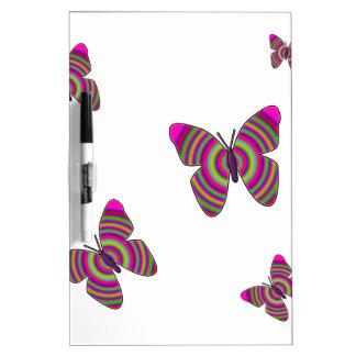 Rainbow Butterflies Dry-Erase Board