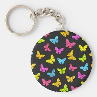 Rainbow butterflies keychain