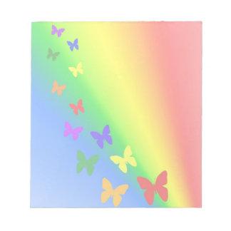 Rainbow Butterflies Memo Notepad