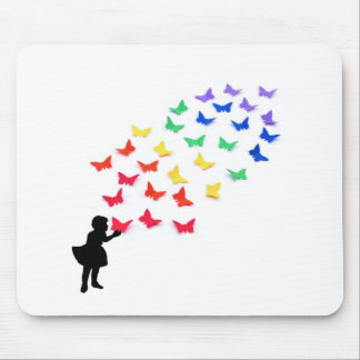 Rainbow Butterflies Mouse Pad