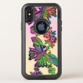 Rainbow Butterflies OtterBox Defender iPhone X Case