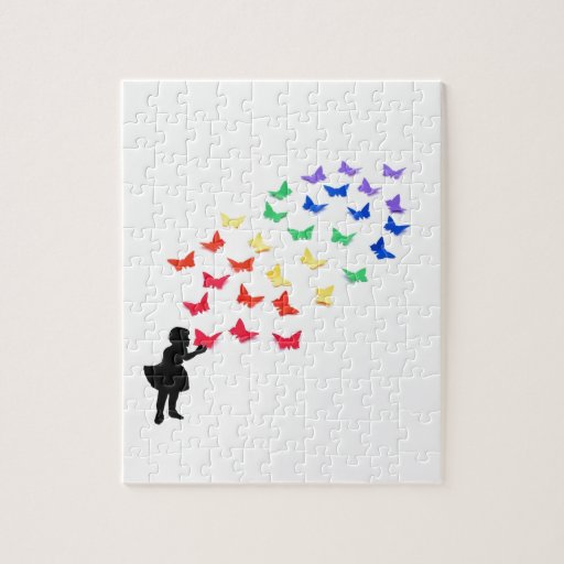 Rainbow Butterflies Puzzles
