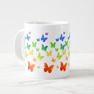 Rainbow Butterflies 20 Oz Large Ceramic Coffee Mug