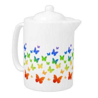 Rainbow Butterflies Teapot