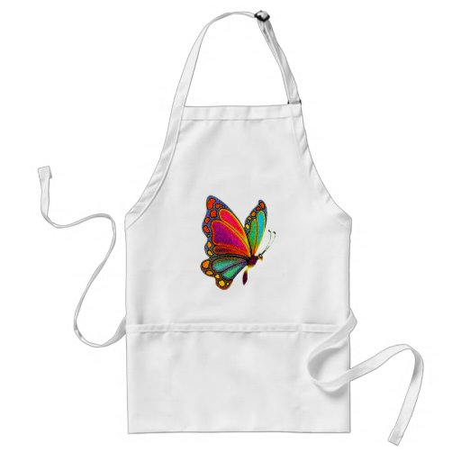 Rainbow Butterfly Apron