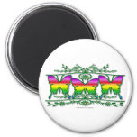 Rainbow Butterfly Band Magnets