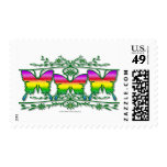 Rainbow Butterfly Band Stamp