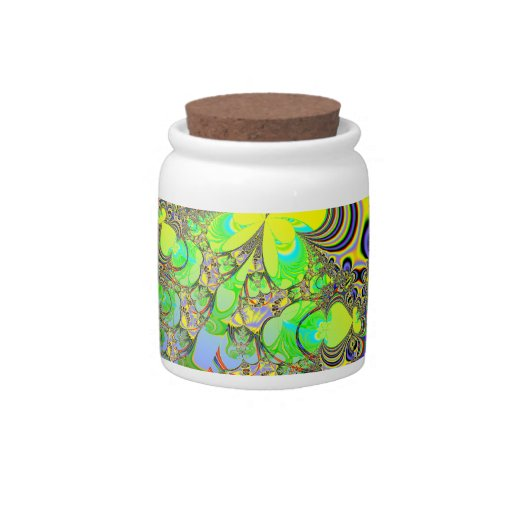 Rainbow Butterfly Bouquet Fractal Candy Jars