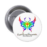 Rainbow Butterfly Button. Pinback Button at Zazzle