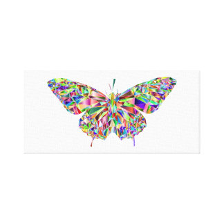 Rainbow Butterfly Canvas Picture