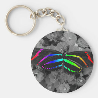 Rainbow Butterfly Color Pop Photography Keychain