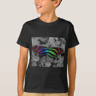 Rainbow Butterfly Color Pop Photography T-Shirt