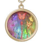 Rainbow Butterfly Dreams Wearable Art Necklace