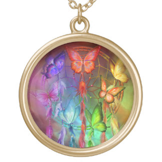 Rainbow Butterfly Dreams Wearable Art Necklace