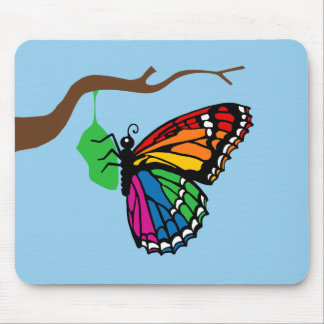 Rainbow Butterfly Emerging From Chrysalis Mouse Pad