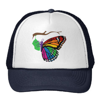 Rainbow Butterfly Emerging From Chrysalis Trucker Hat