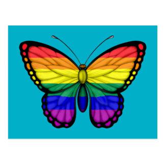 Rainbow Butterfly Gay Pride Flag Postcard