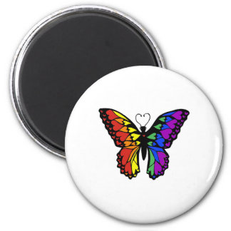rainbow butterfly hearts magnet