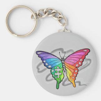 Rainbow Butterfly Keychain