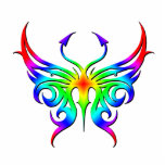 Rainbow butterfly magnet. statuette