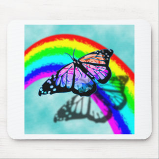 Rainbow Butterfly Mouse Pad