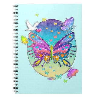 Rainbow Butterfly Notebook