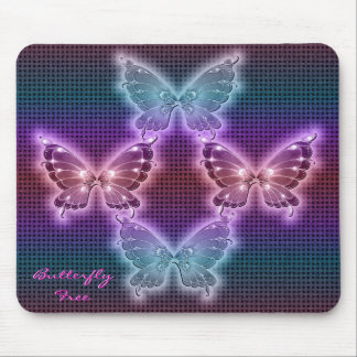 Rainbow Butterfly Pattern Mouse Pad