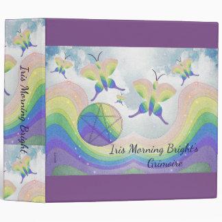 Rainbow Butterfly Pentacle BoS Lg. Choose BG col Binder