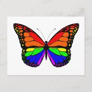 Rainbow Butterfly Postcard zazzle_postcard