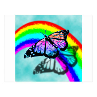 Rainbow Butterfly Post Cards