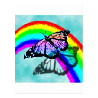 Rainbow Butterfly Post Card