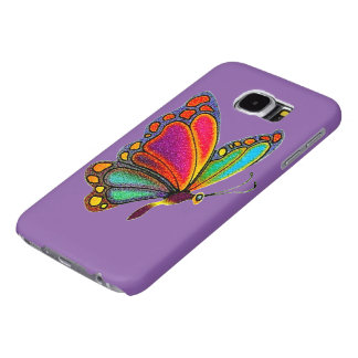 Rainbow Butterfly Samsung Galaxy S6 Cases