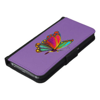 Rainbow Butterfly Samsung Galaxy S6 Wallet Case