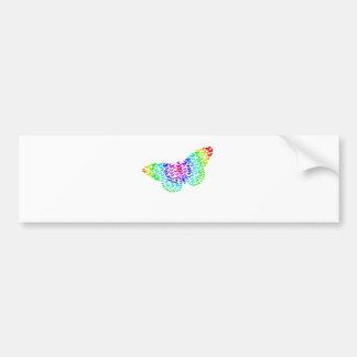 Rainbow Butterfly Silhouette Bumper Sticker
