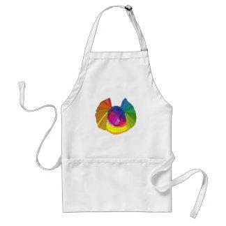 Rainbow butterfly skull adult apron