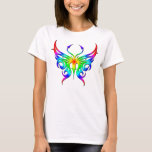 Rainbow Butterfly Tee. T-shirt at Zazzle