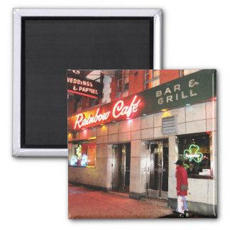 Rainbow Café Magnet