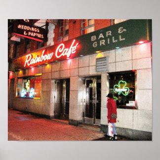 Rainbow Café Print