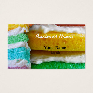 Rainbow Cake Business Card