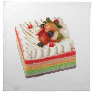 Rainbow cake napkin