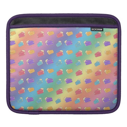 Rainbow cake pattern sleeve for iPads