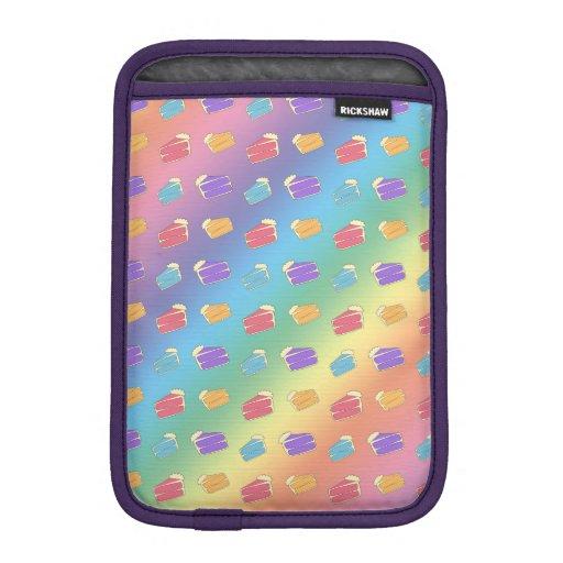 Rainbow cake pattern iPad mini sleeves