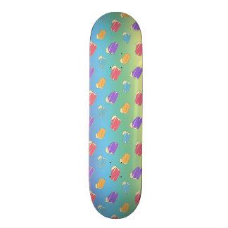 Rainbow cake pattern skate board decks
