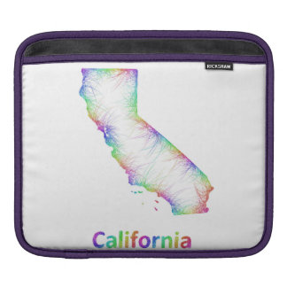 Rainbow California map Sleeve For iPads